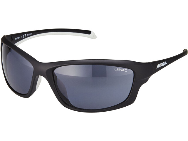 Alpina Dyfer Glasses black matt-white/black